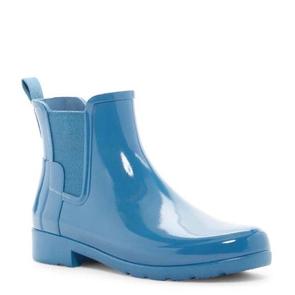 78ce6fc0270 Hunter original refined Chelsea gloss rain boots